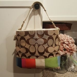 Authentic Coach canvas tote women's purse